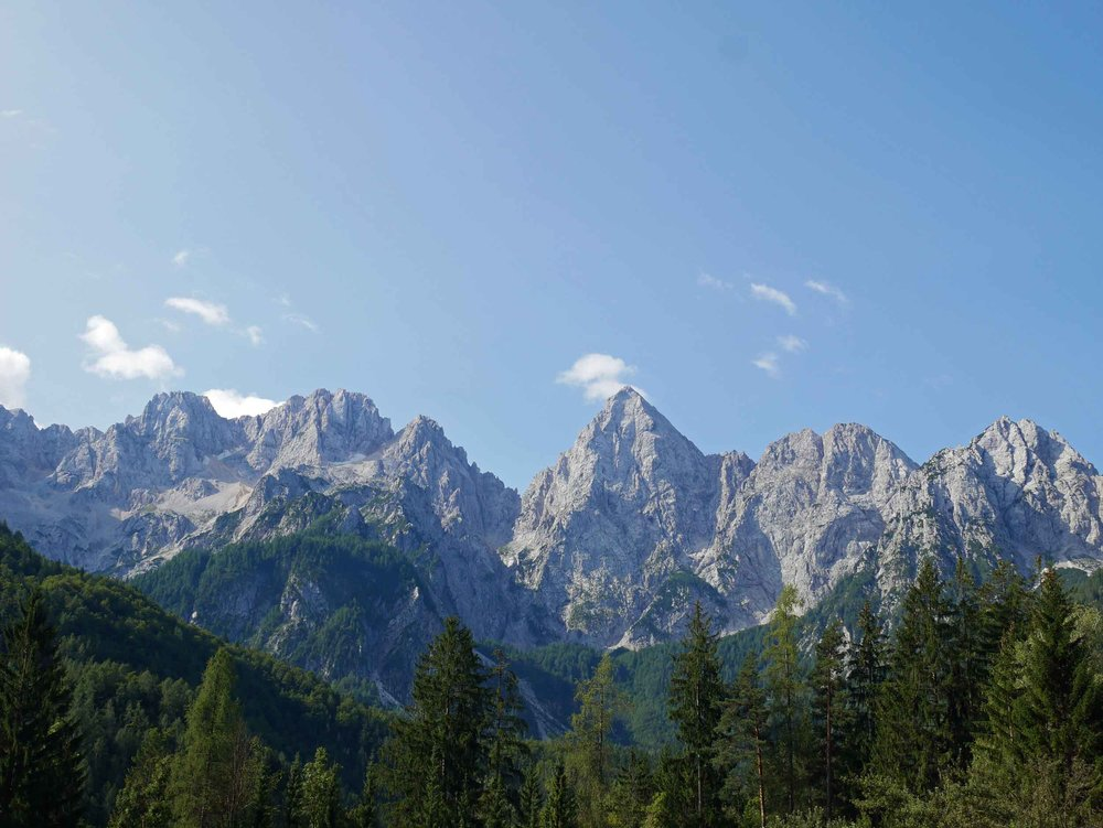 We continued on, driving higher into the Julian Alps, which were named for Julius Caesar who founded a municipality at the foot of the impressive mountains (Aug 21).