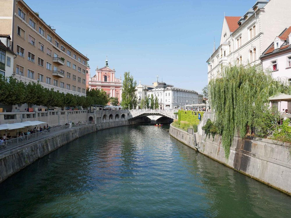Completing our circle of Slovenia's west, we returned to the country's attractive capital city of Ljubljana.