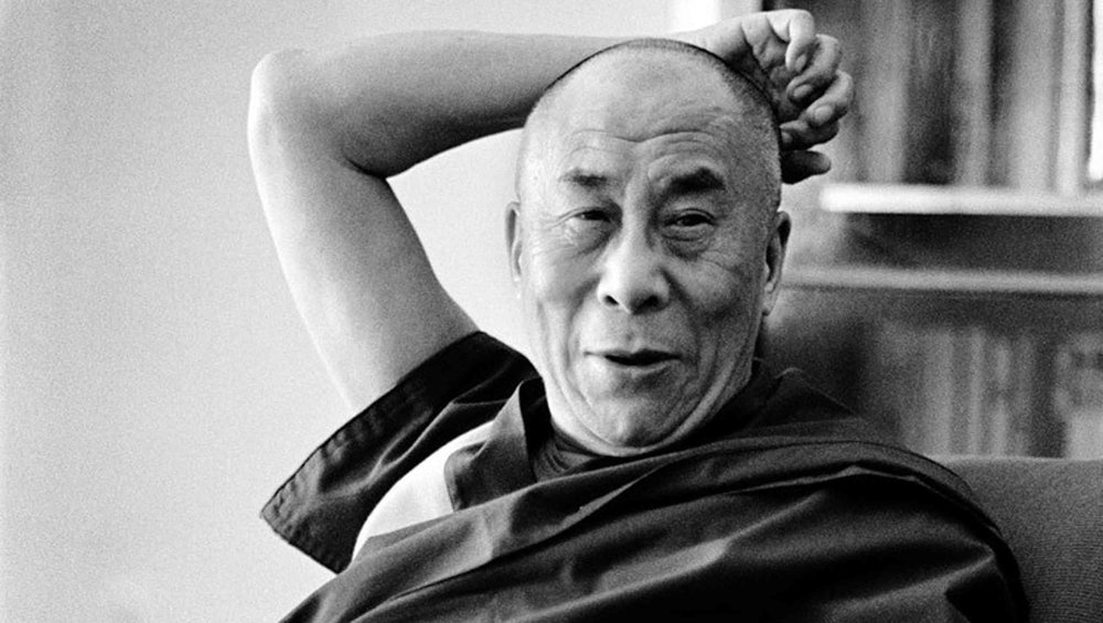 Photo of His Holiness from the official  Dalai Lama website .
