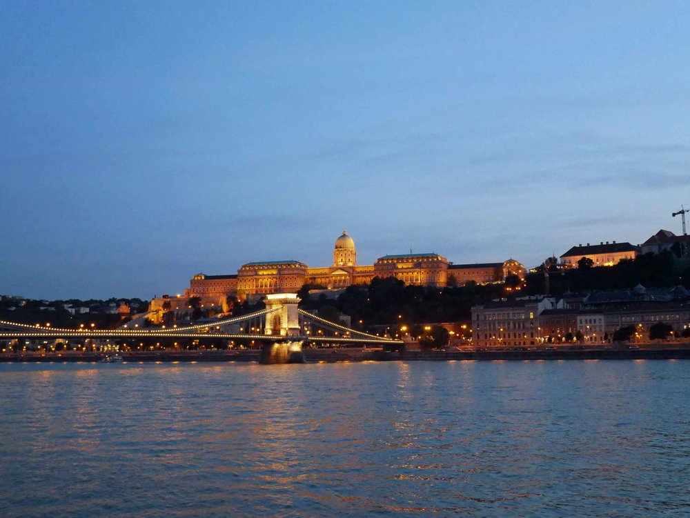 The Danube River separates Buda from Pest with many iconic bridges spanning the water throughout the city.