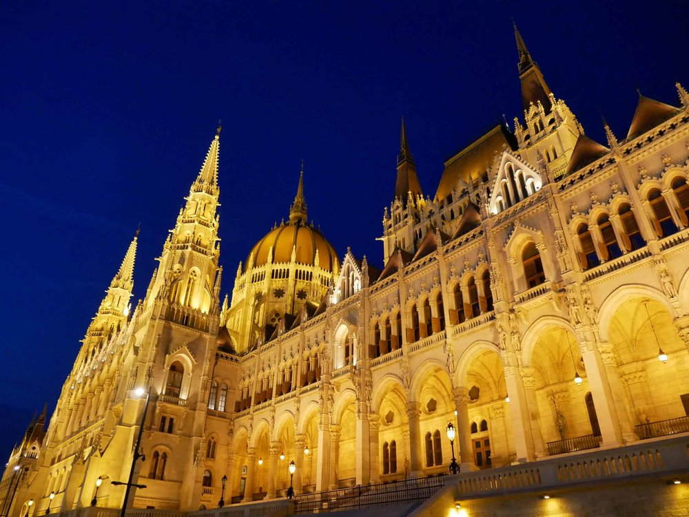 The stately and imposing Hungarian Parliament Building is the largest building in Hungary and tallest structure in the city.