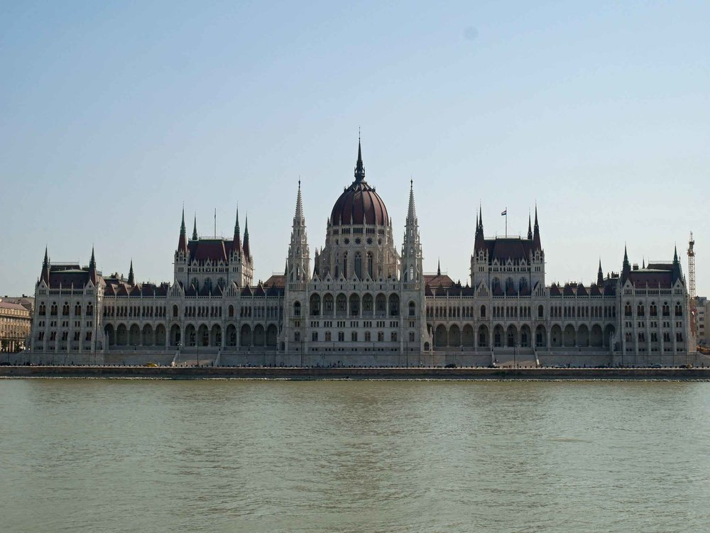 Always dramatic, a daytime Buda view of the Hungarian Parliament Building provides a different perspective.