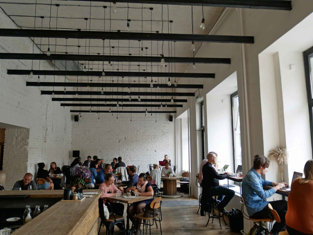 In Brno, we feel for the food at busy and trendy Skog Urban Hub.