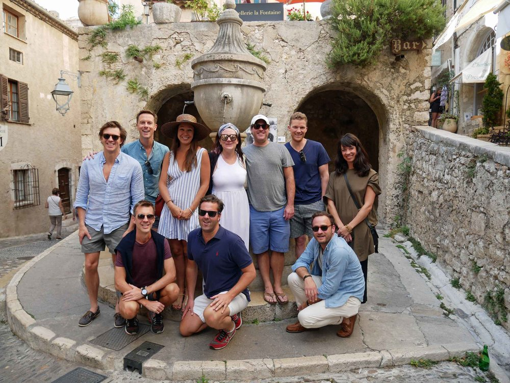 Les Amis en France! We felt so fortunate to have our dearest near us. Here's the gang exploring the adorable village of St. Paul de Vence (Sept 16).