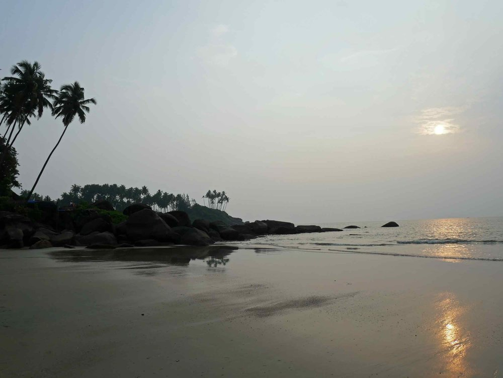 The rugged shore and laidback vibe of Goa was exactly what we needed after our travails in Nepal (Oct 20).