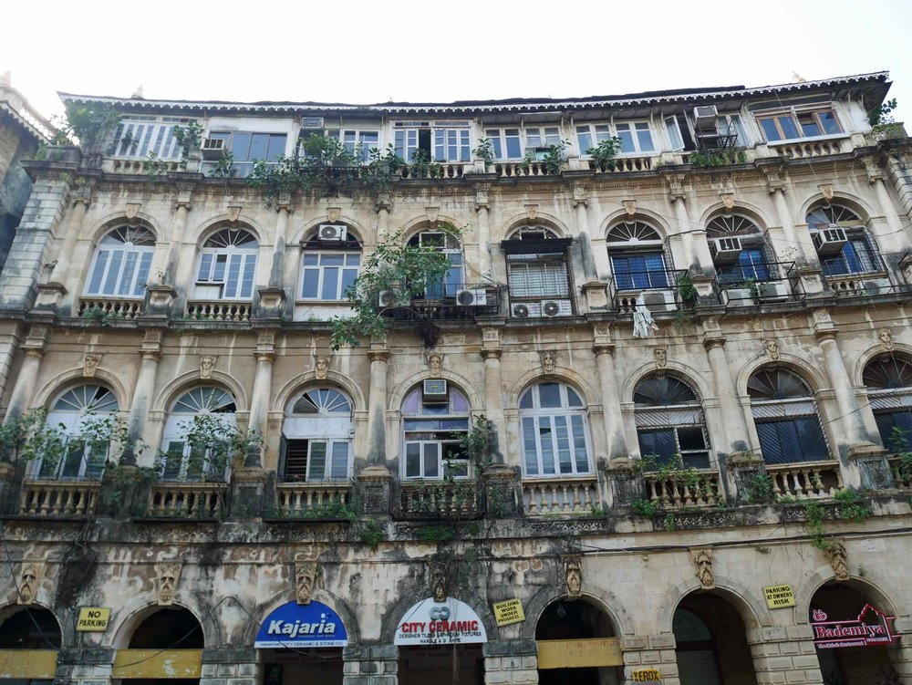 Crumbling remnants of Mumbai's (back then was known as Bombay) colonial heritage can be found throughout the city (Oct 27).