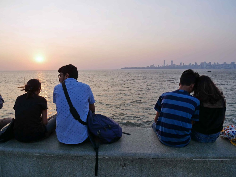 A sunset stroll along Marine Drive capped a beautiful - albeit hot - weekend exploring Mumbai.