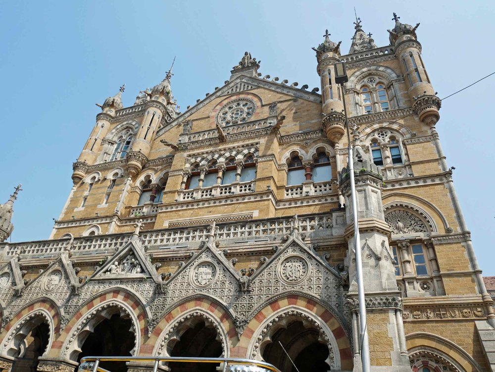 The Chhatrapati Shivaji Maharaj Terminus, previously known as Victoria Terminus, was built in the late 1800s in Indian Goth style and still houses the central railway.