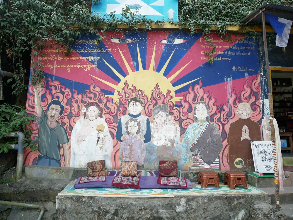 McLeod Ganj is the residence-in-exhile for Tiben refugees, including His Holiness, the Dalai Lama (Nov 2).