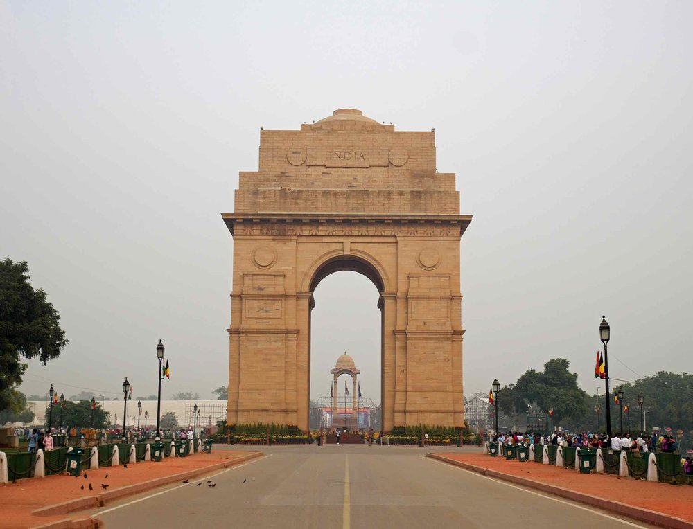 India Gate sits within an impressive pedestrianized grounds in the heart of the city.