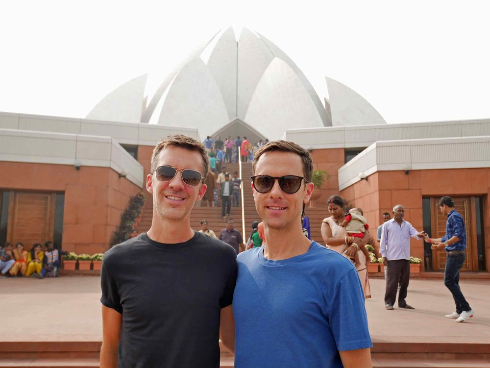 The impressive Lotus Temple is a Bahá'í House of Worship, open to all, regardless of religious affiliation (Nov 7).