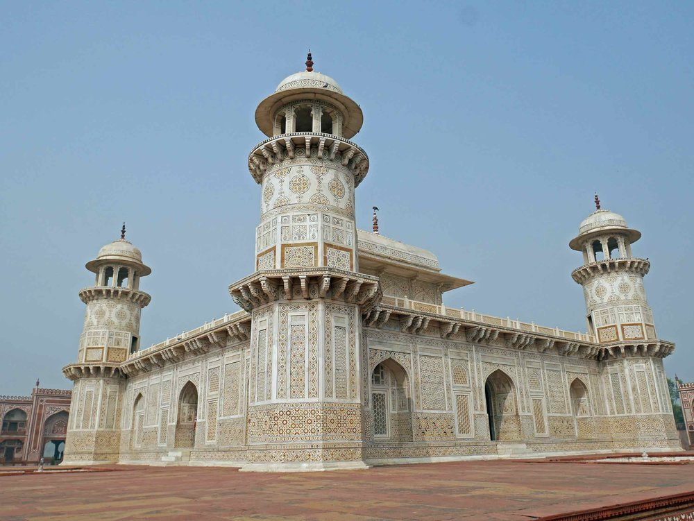 """Coined the """"Baby Taj,"""" a must see site in Agra after the Taj, is another Mughal-era mausoleum,the Tomb of I'timād-ud-Daulah."""