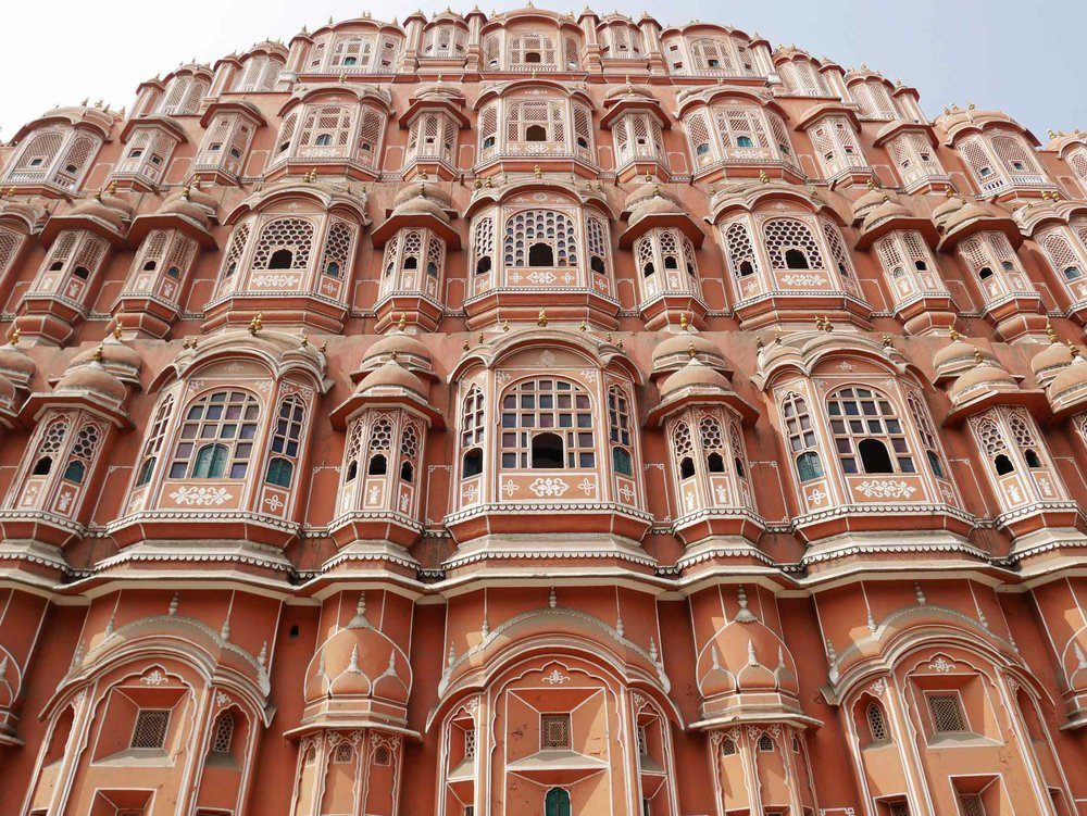 "Awa Mahal - aka the ""Palace of Winds"" - in Jaipur, India, is so named because it was essentially a high screen wall built for the women of the royal household to observe street festivities in Jaipur while remaining unseen (Nov 10)."