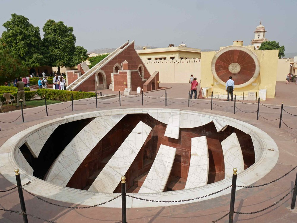 Jantar Mantar is a collection of nineteen architectural astronomical instruments built by the Rajput king Sawai Jai Singh II, completed in 1734.