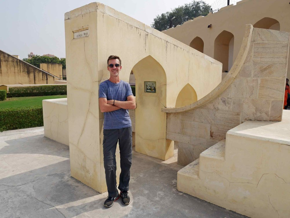 Astrological signs have their own 'clocks' within the Jantar Mantar site – Trey checking out Gemini.
