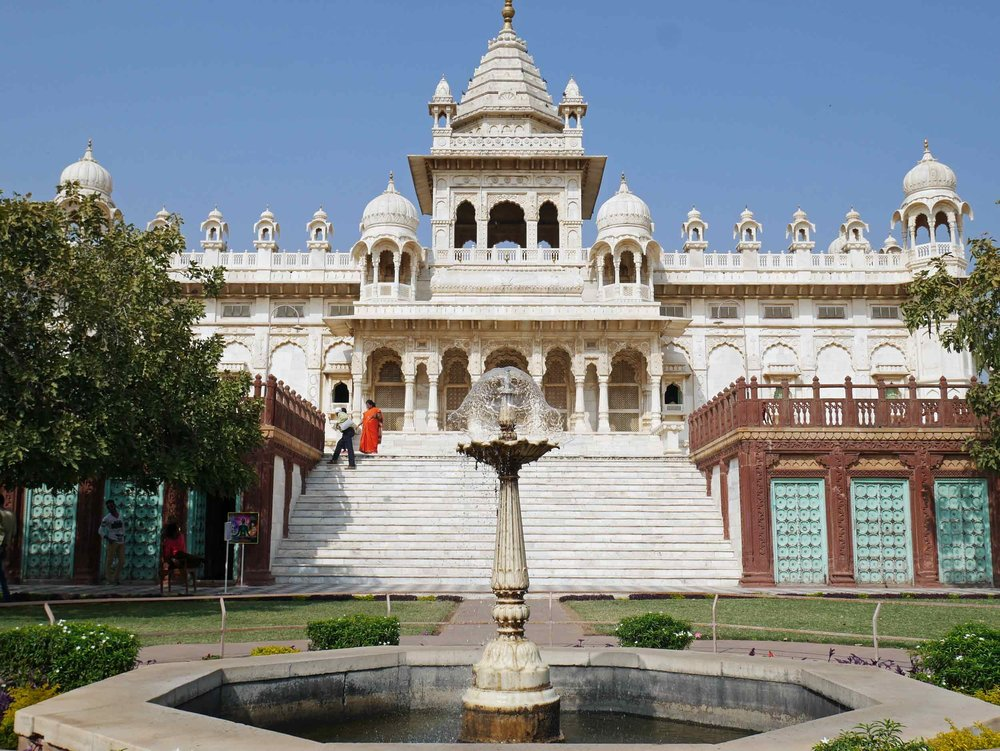 Jaswant Thada was built by Maharaja Sardar Singh in 1899 to honor the memory of his father, Maharaja Jaswant Singh II, and serves as the cremation ground for the royal family of Marwar.