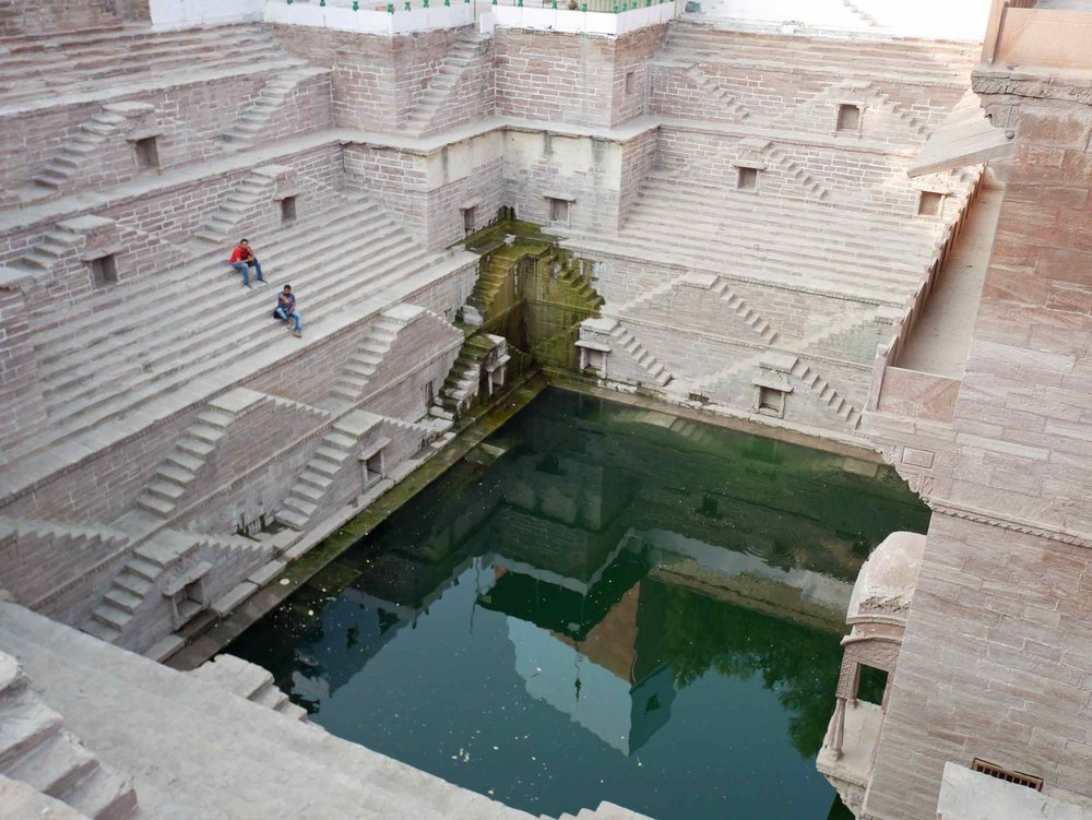 Jodhpur's ancient and beautifully preserved step well, found in the old town.