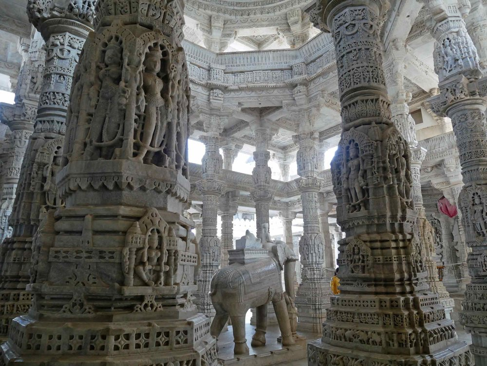 En route to Udaipur from Jodhpur, we made the wise choice to stop at the beautiful Ranakpur Jain Temple (Nov 13).