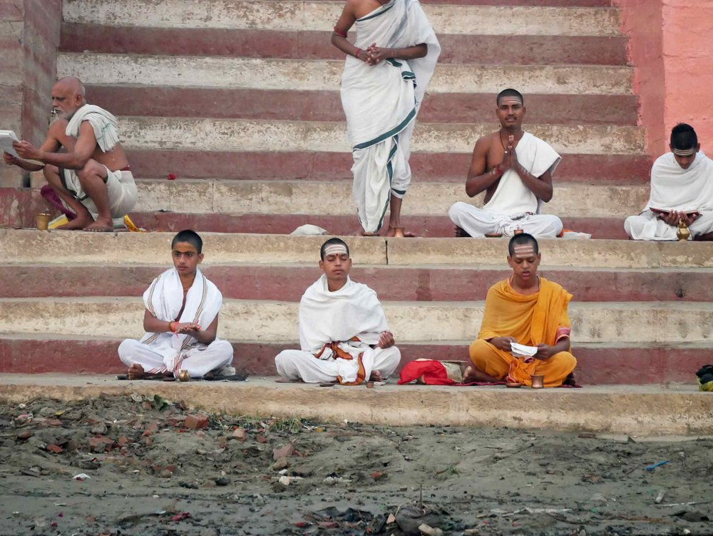 Hindus believe that any rituals performed adjacent to the river Ganges, or in its water, see their blessedness multiplied.