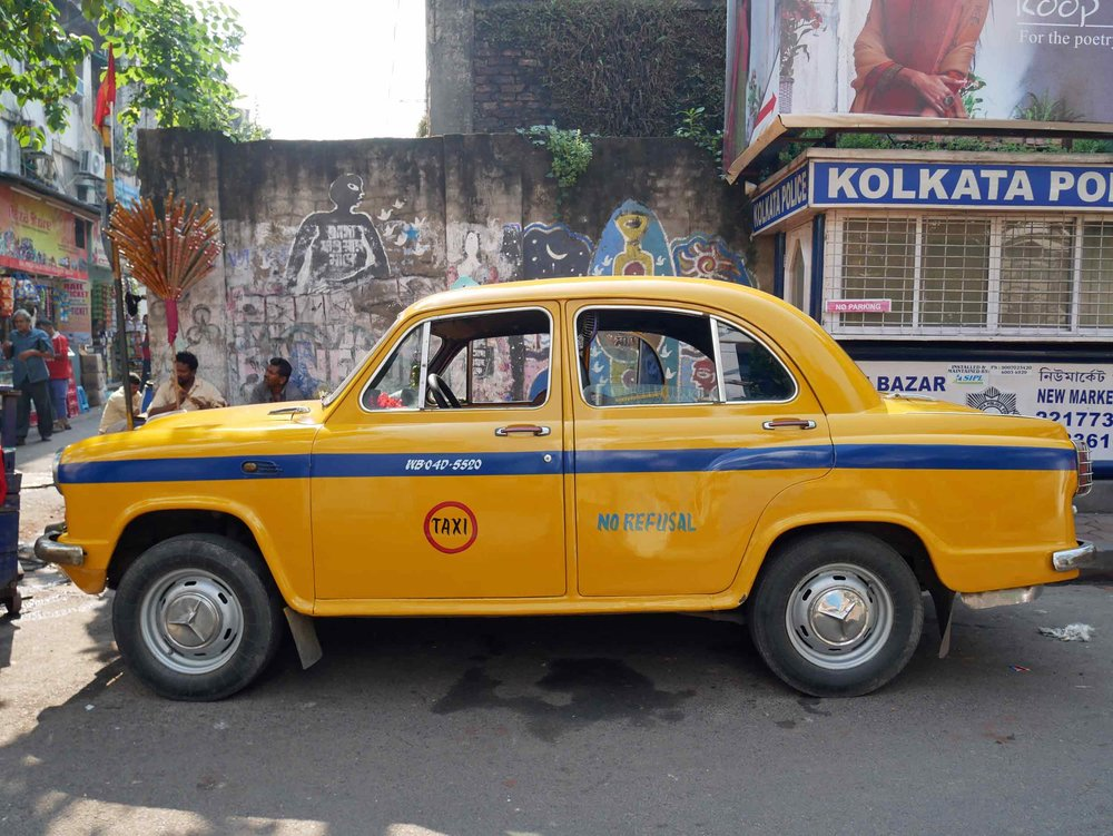We fell for the charming old-school taxis and cars we spotted all over Kolkata (Nov 19).