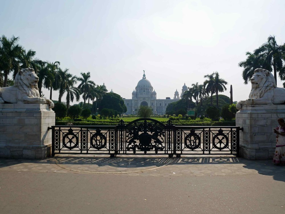 Gates of the opulent Victoria Memorial.