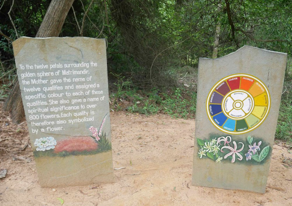 Auroville is a universal city in the making, dedicated to the ideal of human unity, based on the vision of Sri Aurobindo and 'The Mother.'