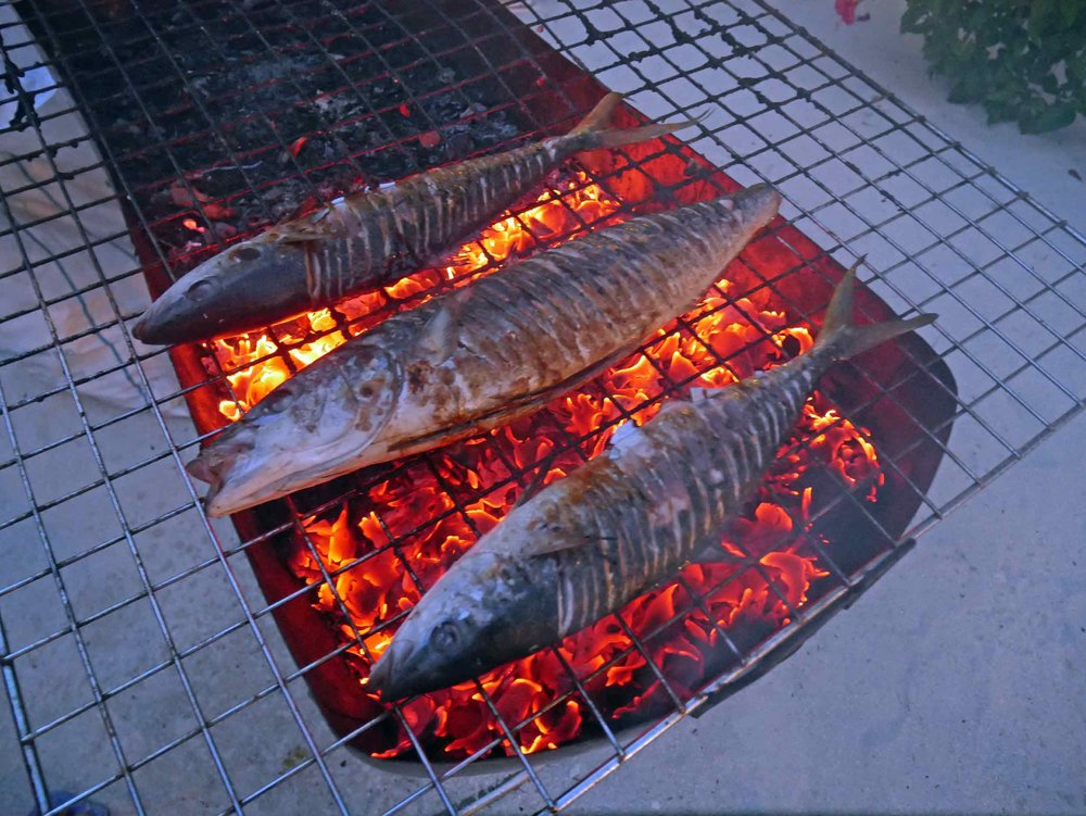 Grilled fresh caught fish for dinner?  Yes, please!