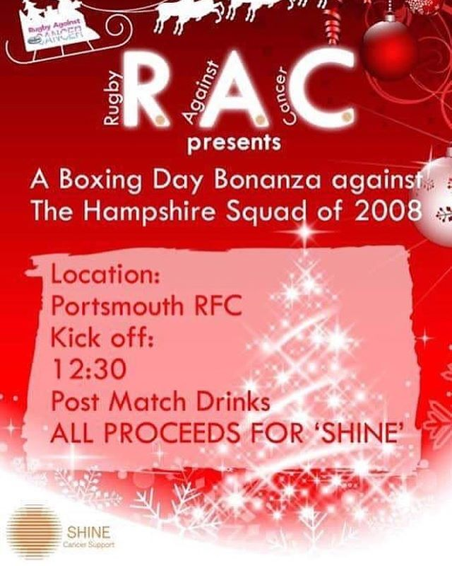 Morning all, if you're looking for something to do on Boxing Day, why not pop down to Norway Road and support Rugby Against Cancer v Hampshire Squad of 2008, and cheer off that Christmas dinner to make room for that Boxing Day buffet!  Maybe even enjoy another festive beverage 🍻 whilst supporting an incredible charity 🏉  See the poster below for more details 🎄🎄 #lsrtherapies #sportstherapist #graduatesportstherapist #pitchside #rugby  #charity #boxingday #boxingdayrugby