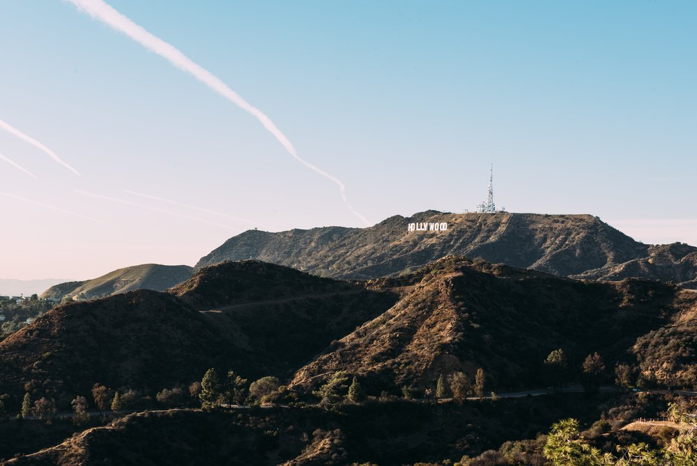 "The ""Hollywood"" Sign - Can be viewed from the top of ""Runyon Canyon"" the 160-acre park in Los Angeles, California."