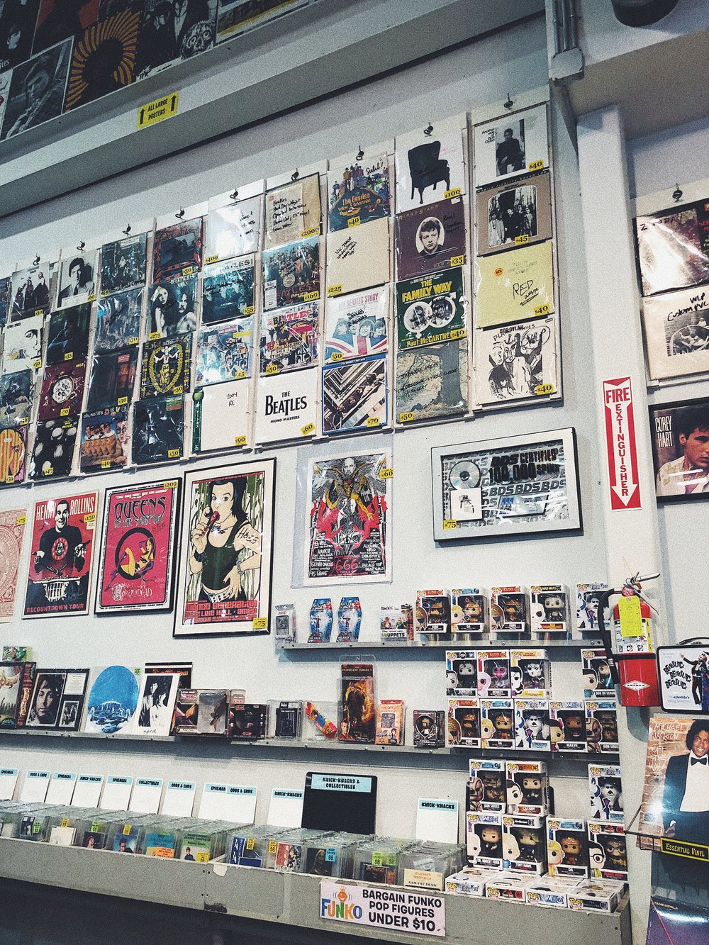 Amoeba Music - This shop has a huge selection of vinyl, video & CDs, plus live shows located on 6400 Sunset Blvd, Los Angeles, CA 90028.