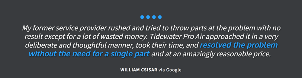 Tidewater Pro Air Customer Review
