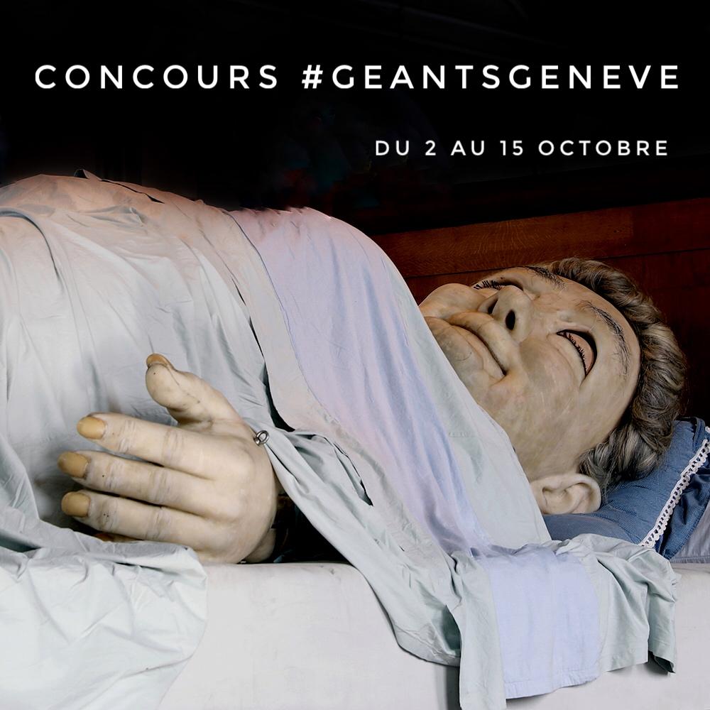 Grand-Mère dort! - Passez la voir avec vos caméras, nous lançons un CONCOURS en collaboration avec la Ville de Genève! Du 27 septembre au 1er octobre, prenez des photos des différents événements autour de la visite des Géants à Genève. Du 2 octobre au 15 octobre, postez vos meilleures photos avec les hashtags :#iGersGeants et #geantsgeneve!!! Envoyez une version haute résolution à igersgeneva@gmail.com avec vos noms, prénoms, pseudo instagram et numéro de téléphone avant le 15 octobre minuit pour valider votre participation au concours !!!Le règlement complet est ici: règlement.Les photos gagnantes seront repostées sur nos médias, puis exposées grâce à la Ville de Genève. Plus d'infos prochainement, stay tuned!