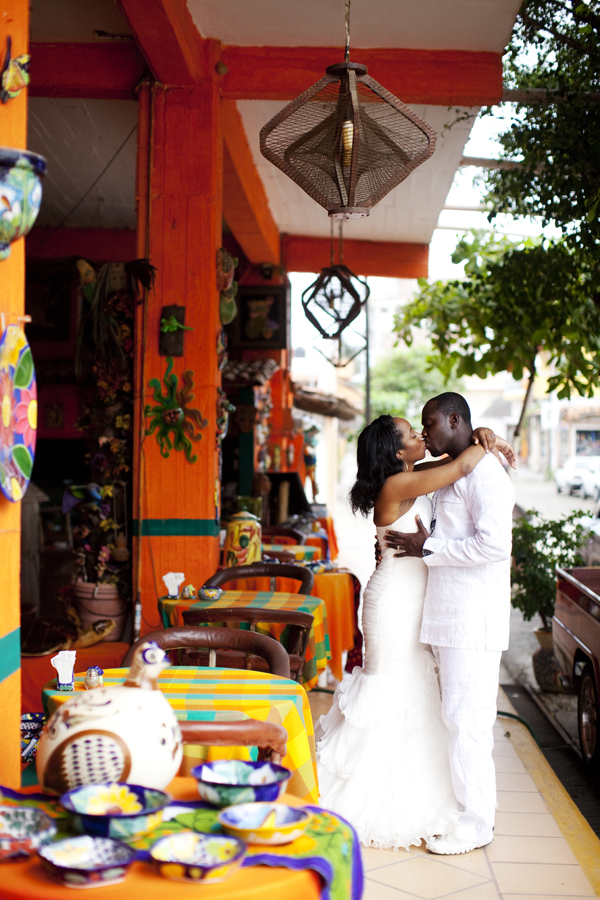 This gorgeous photo from Shari-Annd + Kofi's Mexican Destination Wedding Album was captured by  Aurora G. Photography