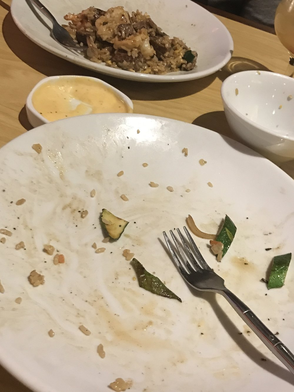 Guess which plate was mine...