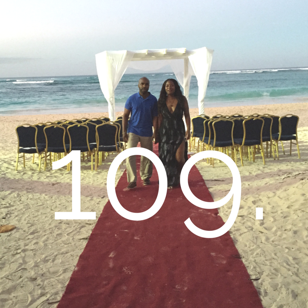 After Che proposed, we saw a wedding setup and I tried to keep in the tears, but failed...