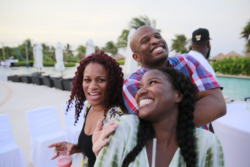 Black Destination Bride - BlackDesti Wedding Countdown Journal - Bridefriends Podcast - 3 Playa del Carmen Mexico - Secrets Maroma Welcome Pool 1.jpg