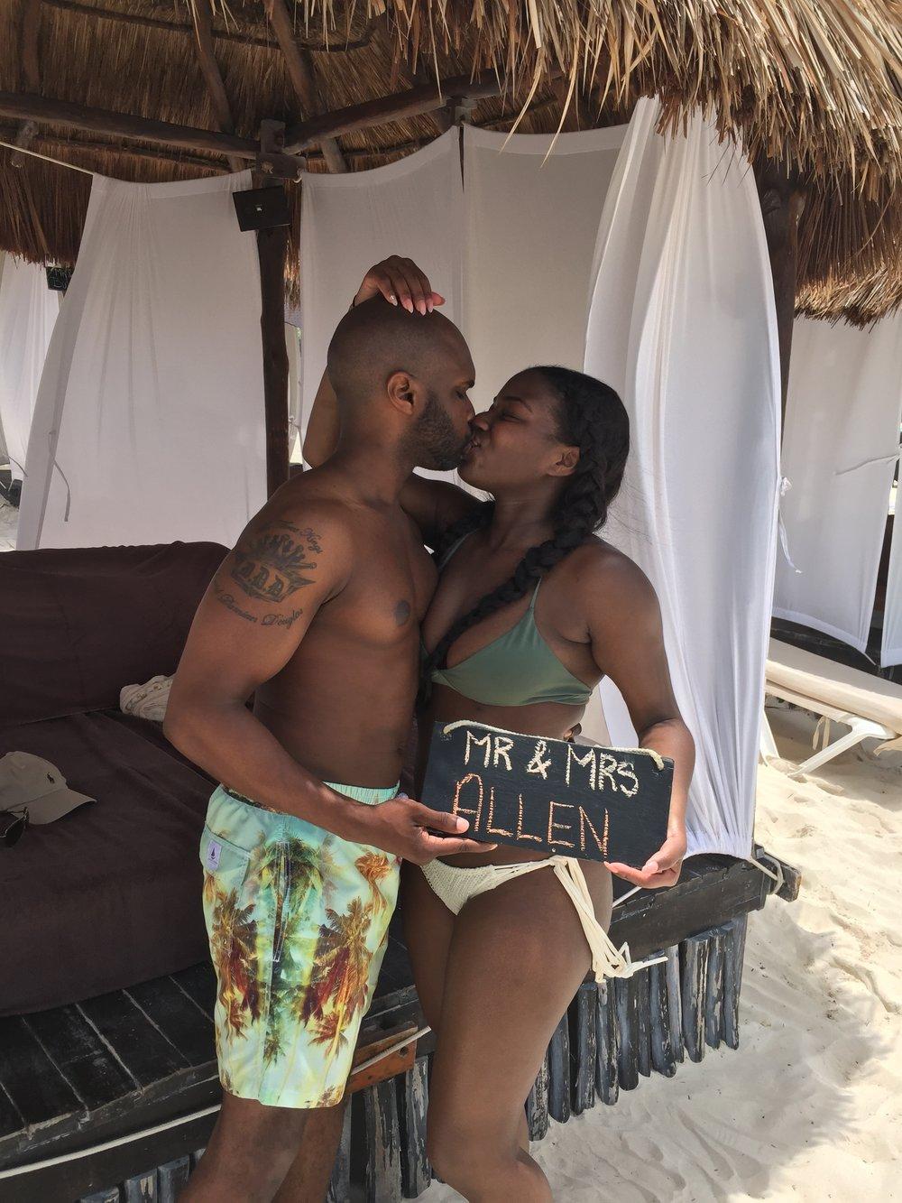 Black Destination Bride - BlackDesti Wedding Countdown Journal - Bridefriends Podcast - 1 Playa del Carmen Mexico - Secrets Maroma beach cabana ChOmi.JPG