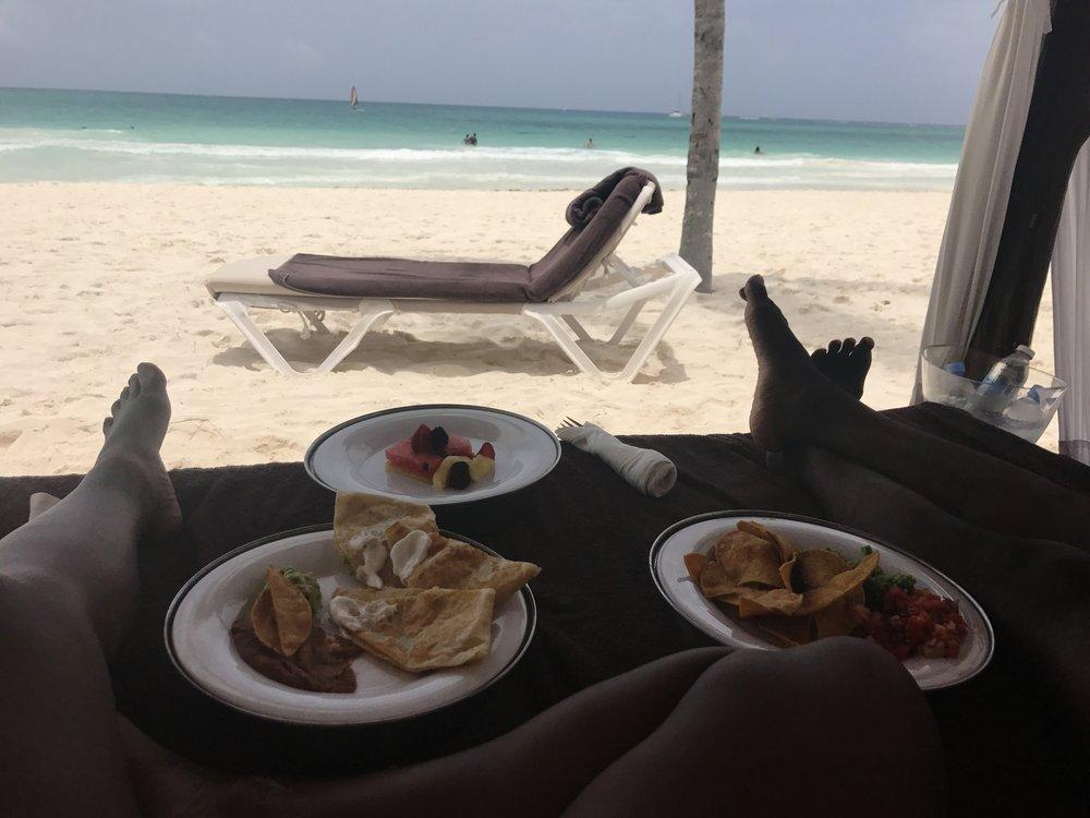 Black Destination Bride - BlackDesti Wedding Countdown Journal - Bridefriends Podcast - 1 Playa del Carmen Mexico - Secrets Maroma beach cabana7.JPG