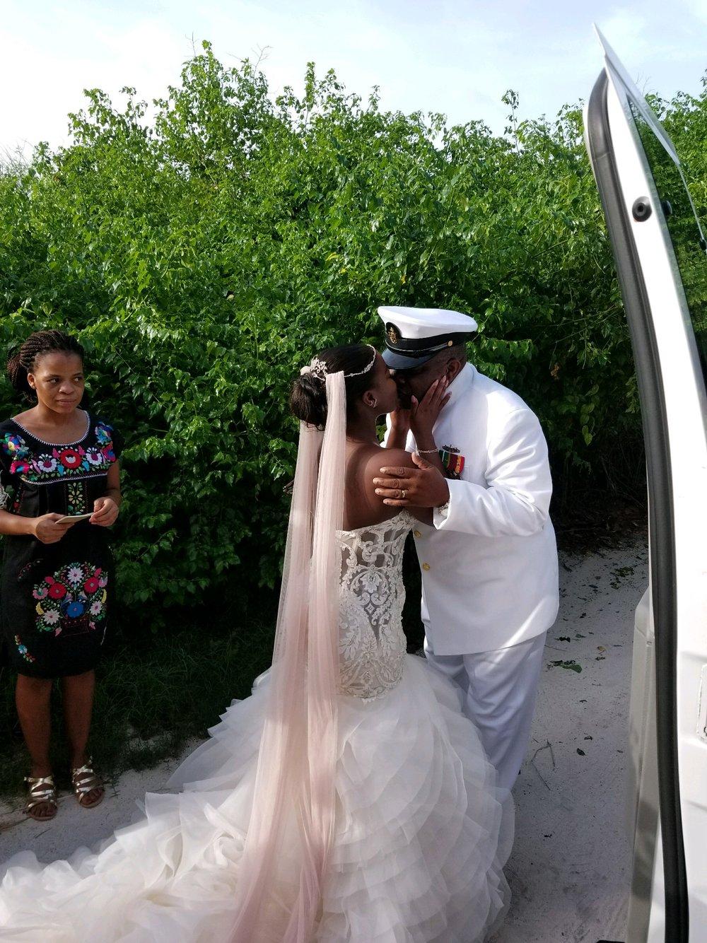 Black Destination Bride - BlackDesti Wedding Countdown Journal - Bridefriends Podcast - 0 Playa del Carmen Mexico - Blue Venado - Shenko Photography - Dad Navy Chief Uniform4.JPG
