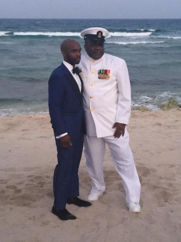 Black Destination Bride - Bridefriends Guide to Destination Weddings Podcast - BlackDesti Countdown - Blue Venado Beach Club - Shenko Photography - Mexico Wedding Navy Uniform Blue Tuxedo.JPG