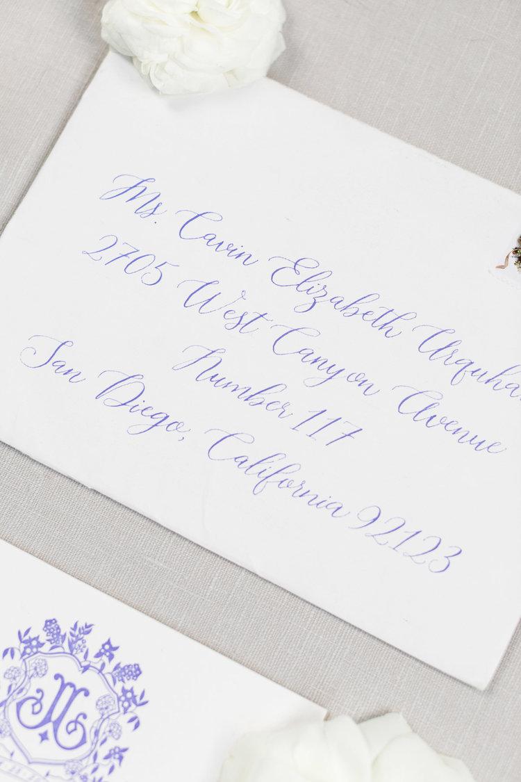 invitation & calligraphy: Mellobets; image: Cavin Elizabeth Photography
