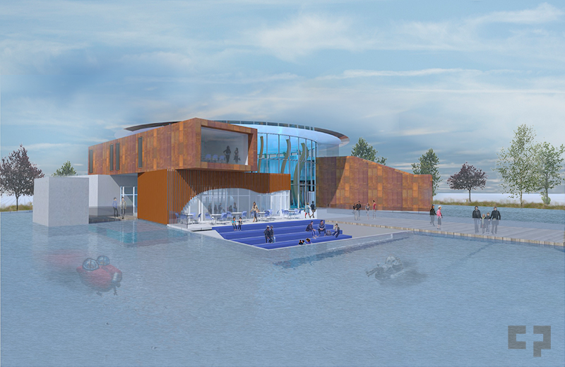 A conceptual drawing of the proposed Nanaimo Ocean Discovery Centre