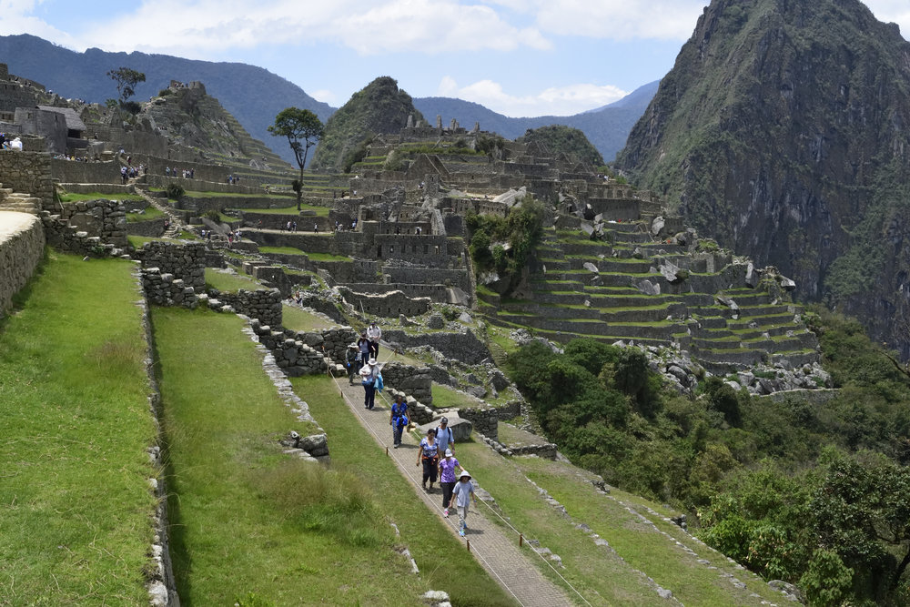 The first view upon entering Machu Picchu.