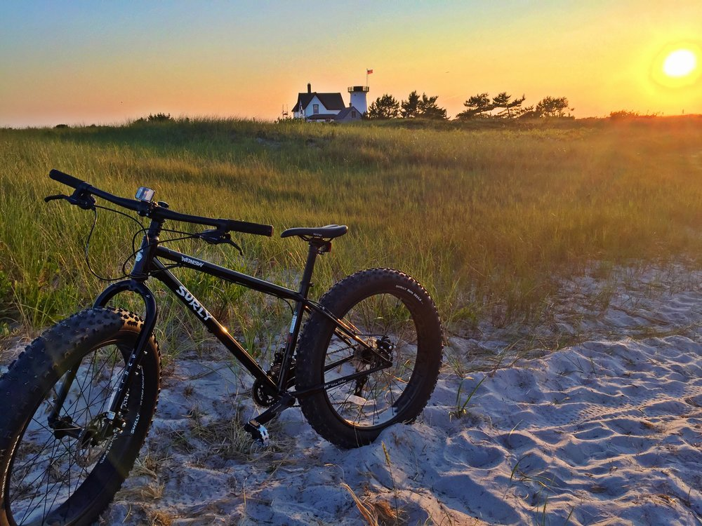 photo Sonja Bergquist- ride out to Stage Harbor Light at sunset!