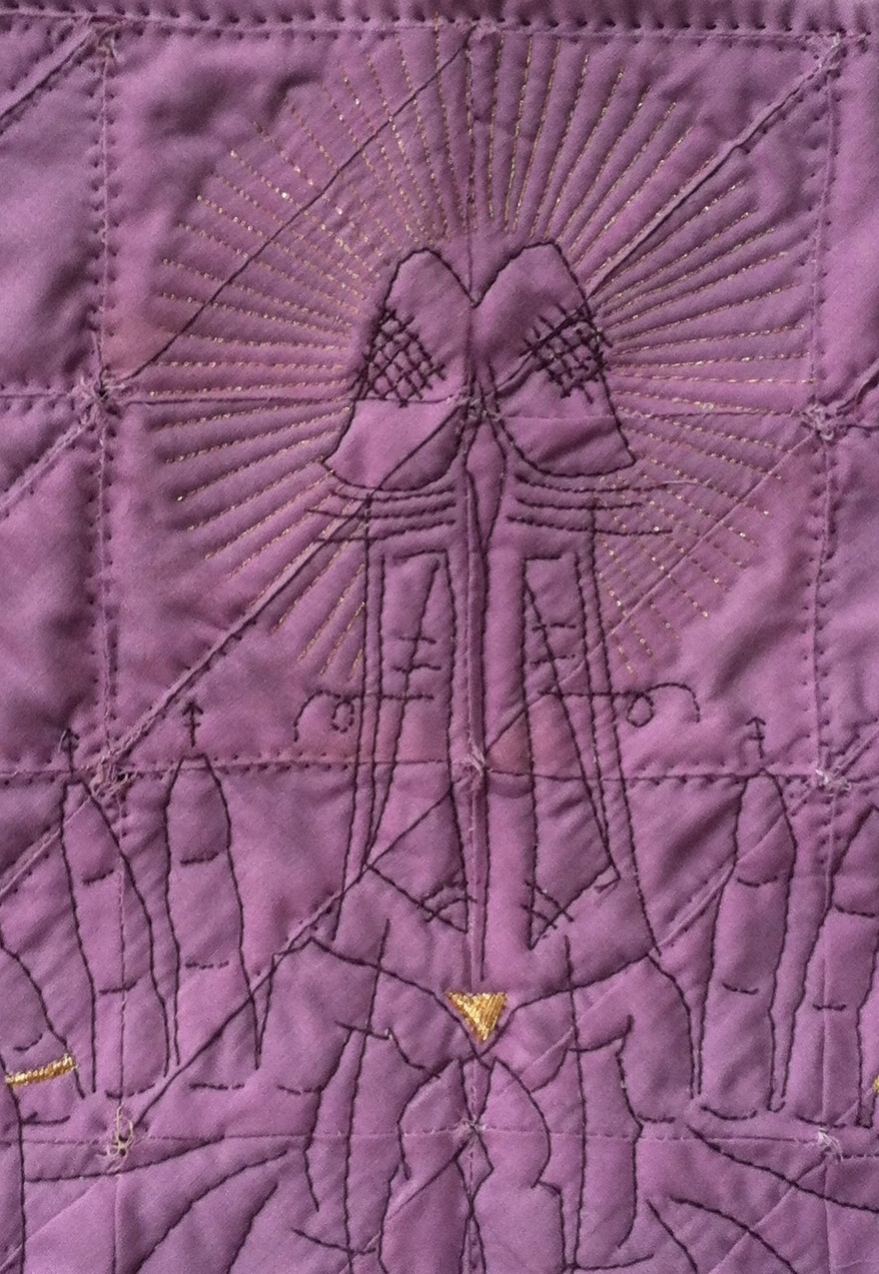 Quilted Lavender Hanky #1