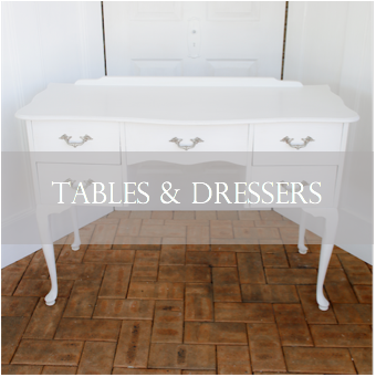 Signing tables, decorative tables and dressers