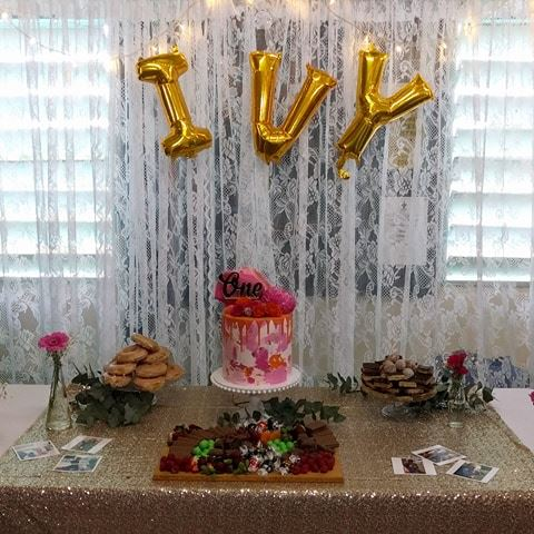 Birthday cake backdrop