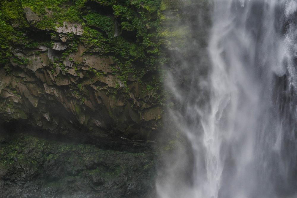 Detalle de rocas de la catarata