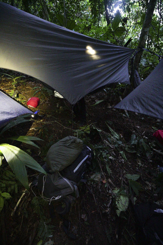 Campamento noche 1