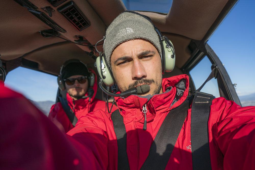 Expedición vía helicoptero.